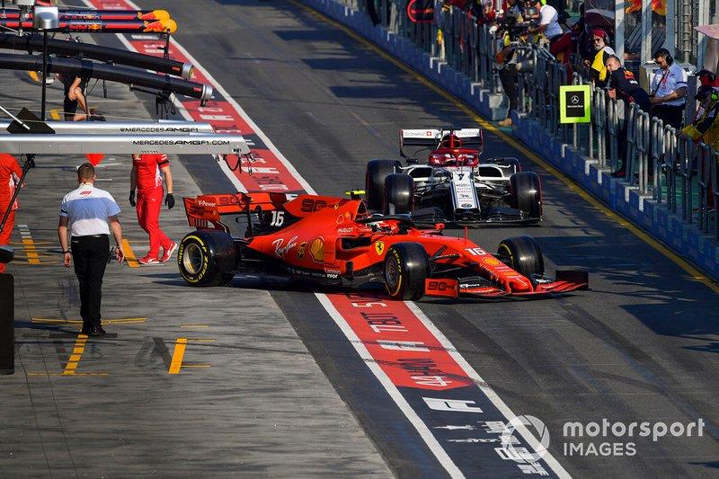 Charles Leclerc, Ferrari SF90, Kimi Raikkonen, Alfa Romeo Racing C38