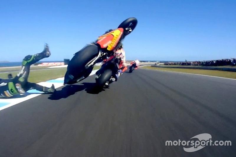Johann Zarco, Monster Yamaha Tech 3 (9 kecelakaan)