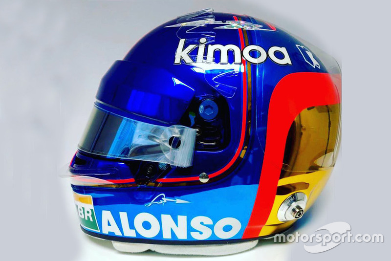 Capacete de Fernando Alonso, McLaren