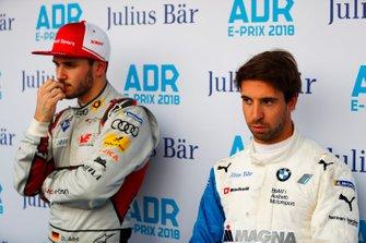 Antonio Felix da Costa, BMW I Andretti Motorsports, Daniel Abt, Audi Sport ABT Schaeffler watch the qualifying