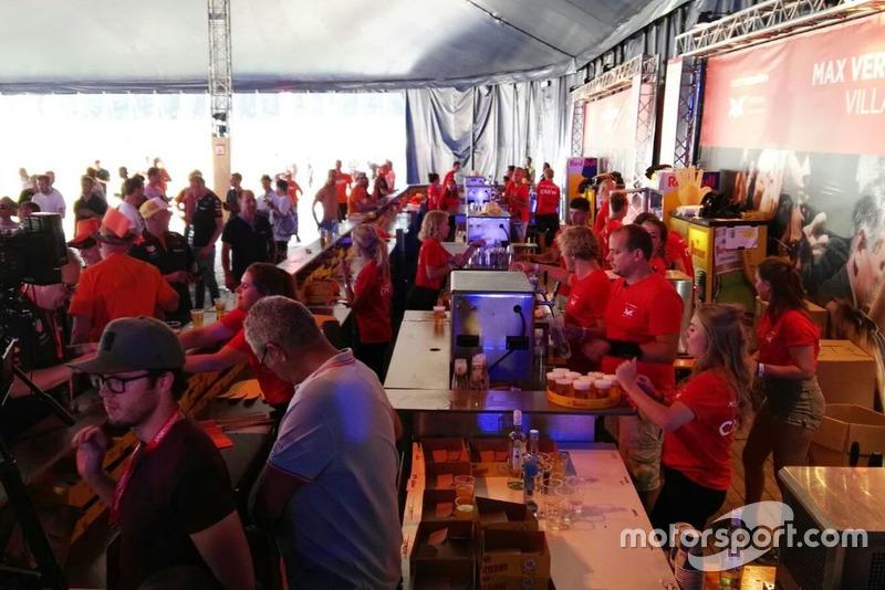 Verstappen fans at the Max Verstappen village in Spielberg