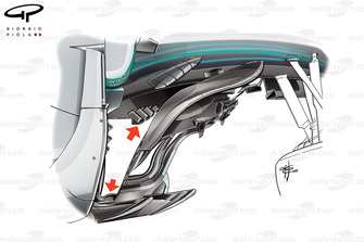 Mercedes F1 W09 barge board