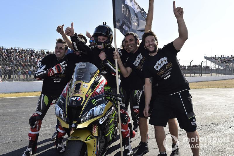 Le vainqueur de la Course 1 et Champion 2018 de Superbike : Jonathan Rea