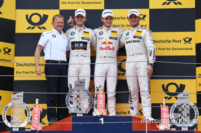 Podio: il vincitore della gara Marco Wittmann, BMW Team RMG, BMW M4 DTM; il secondo classificato Tom Blomqvist, BMW Team RBM, BMW M4 DTM; il terzo classificato Bruno Spengler, BMW Team MTEK, BMW M4 DTM and Stefan Reinhold, BMW Team RMG