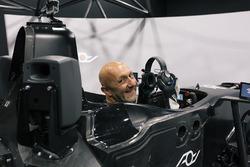 Fabien Barthez im Simulator