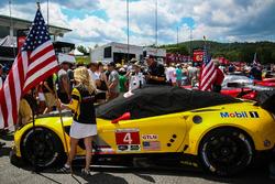 Grid girl of #4 Corvette Racing Chevrolet Corvette C7.R: Oliver Gavin, Tommy Milner