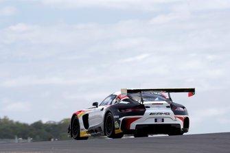 #19 Griffith Corp. Team Nineteen. Black Falcon Mercedes AMG GT GT3: Mark Griffith, Yelmer Buurman, Christina Nielsen