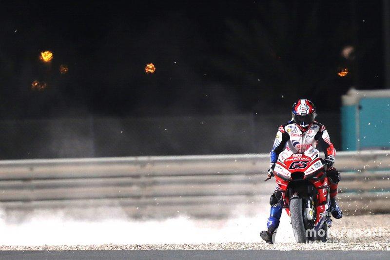Франческо Баньяя, Pramac Racing, у гравії