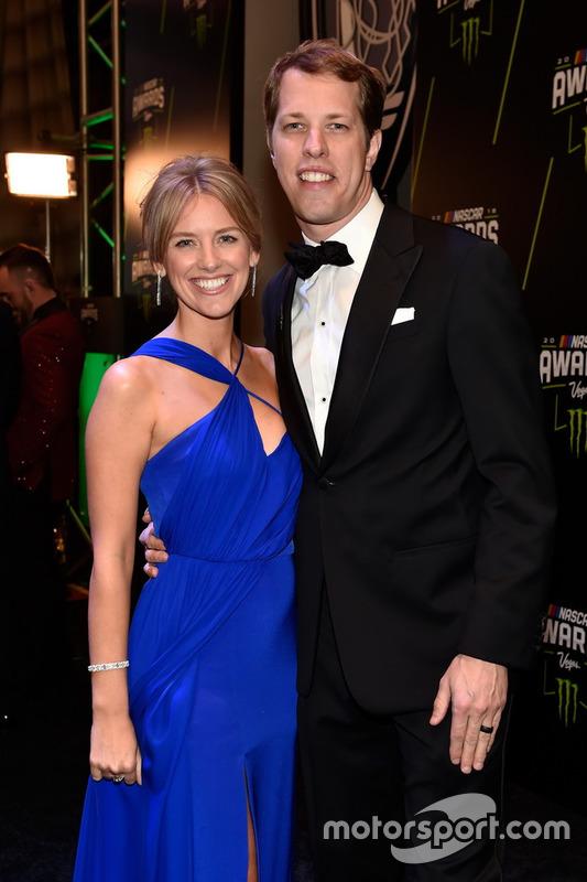 Brad Keselowski, Team Penske, mit Ehefrau Paige