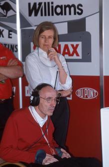 Frank Williams, Director del Equipo Williams y su esposa Virginia Williams