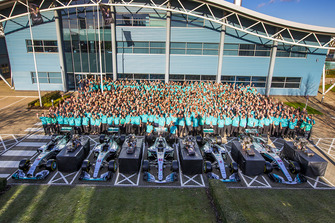 Mercedes AMG F1 2018 World Championship celebration