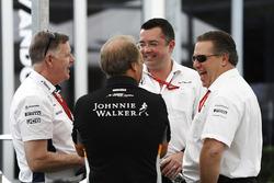 Mike O'Driscoll, Williams; Bob Fernley, Force India; Eric Boullier, McLaren-Teamchef; Zak Brown, McLaren-Chef