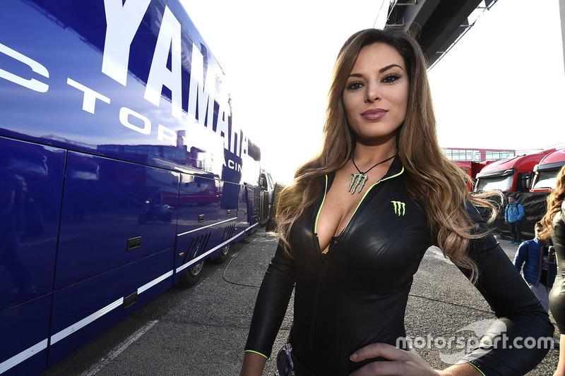 Hot Monster energy girl at Valencia GP