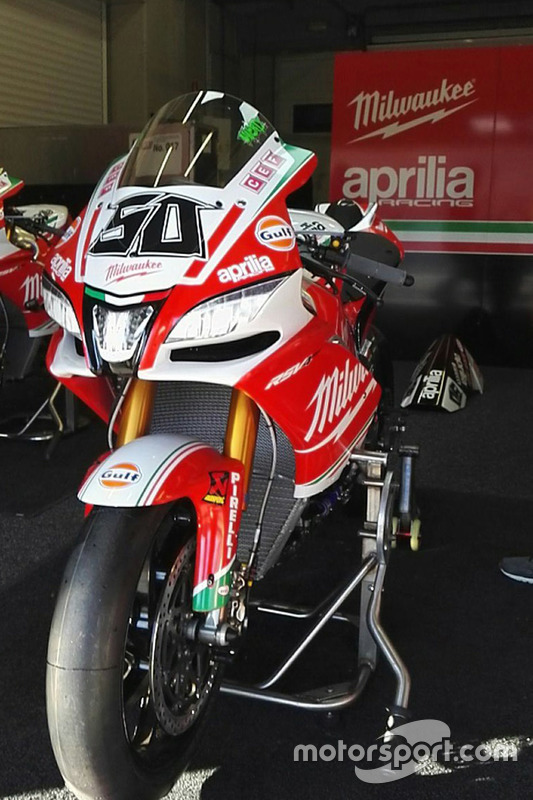 L'Aprilia RSV4 RF de Eugene Laverty, Milwaukee Aprilia World Superbike Team
