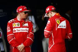 Kimi Raikkonen, Ferrari y Sebastian Vettel, Ferrari después de la cali