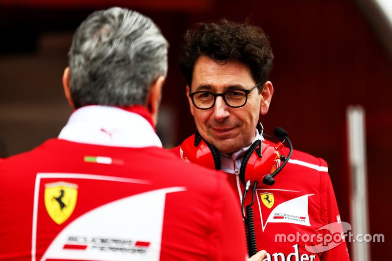 Маттіа Бінотто, технічний директор Ferrari та Мауріціо Аррівабене, керівник Ferrari Team