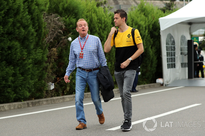 Jolyon Palmer, Renault Sport F1 Team with his Father Jonathan Plamer