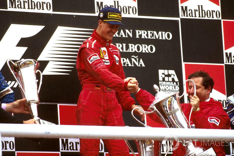 Впервые получать приз вместе с Михаэлем на подиум поднялся Жан Тодт, бывший тогда боссом команды Ferrari.