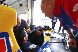 Peter Windsor, Karun Chandhok, Williams FW14B Renault
