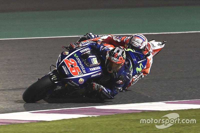 Vinales adelanta a Andrea Dovizioso, Ducati Team