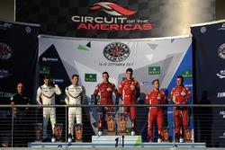 LMGTE Pro podium: winners James Calado, Alessandro Pier Guidi, AF Corse, second place Michael Christensen, Kevin Estre, Porsche Team, third place Davide Rigon, Sam Bird, AF Corse