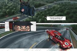 Steve McQueen im Le Mans-Comic