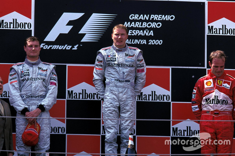 2000 - 1. Mika Häkkinen, 2. David Coulthard, 3. Rubens Barrichello
