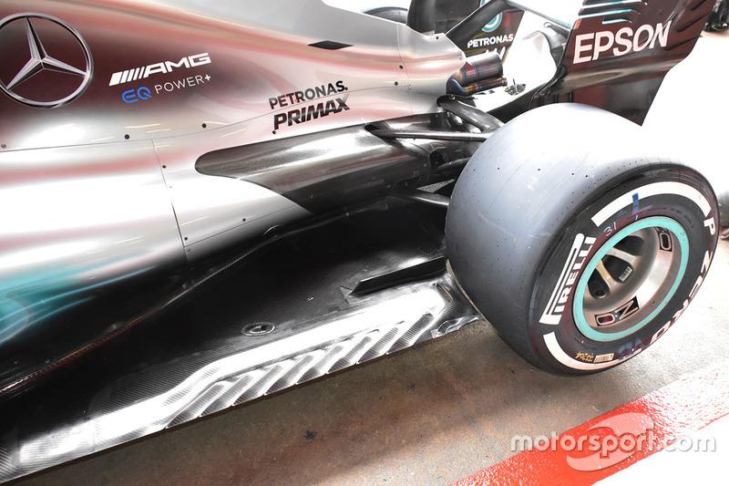 Arrière de la Mercedes AMG F1 W08