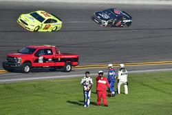 Chase Elliott, Hendrick Motorsports Chevrolet Camaro after a crash
