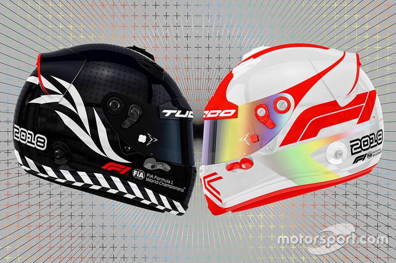 Boceto del logotipo de la F1 en lso cascos