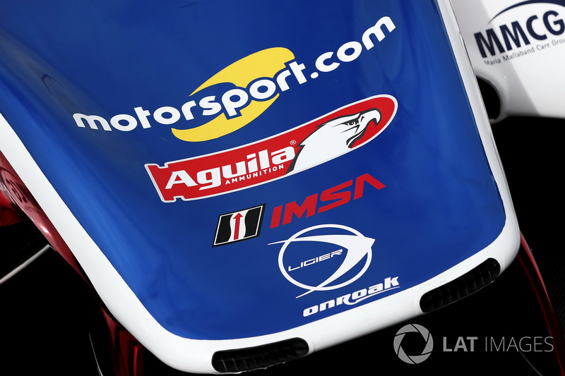 Car detail of #32 United Autosports Ligier LMP2: Will Owen, Hugo de Sadeleer, Paul Di Resta, Bruno Senna