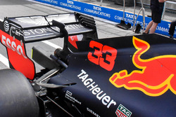 Red Bull Racing RB14 rear wing detail