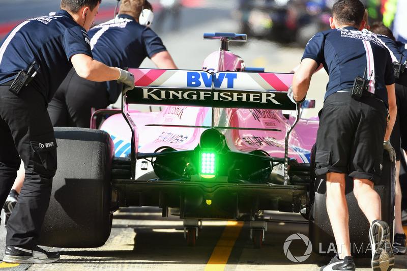 Задняя часть Sahara Force India F1 VJM11