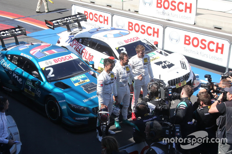 Топ-3 після кваліфікації: Поул Гері Паффетт, Mercedes-AMG Team HWA, Паскаль Верляйн, Team Mercedes-AMG HWA, Пол Ді Реста, Team Mercedes-AMG HWA
