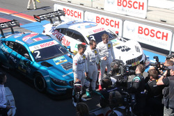 Top-drie na kwalificatie: Pole position voor Gary Paffett, Mercedes-AMG Team HWA, Pascal Wehrlein, Mercedes-AMG Team HWA, Paul Di Resta, Mercedes-AMG Team HWA