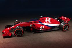 Concepto de la decoración de Sauber-Alfa Romeo
