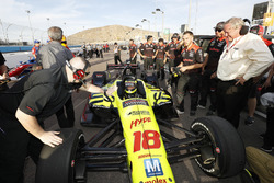 Sébastien Bourdais, Dale Coyne Racing with Vasser-Sullivan Honda pulls in after taking the pole