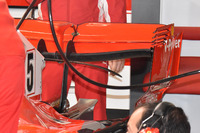 Rear wing detail of the car of Sebastian Vettel, Ferrari SF71H