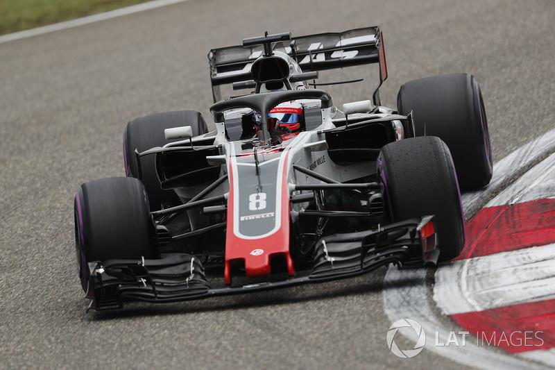 10: Romain Grosjean, Haas F1 Team VF-18 Ferrari, 1'32.855