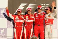 Феліпе Масса, Ferrari, Фернандо Алонсо, Ferrari, Стефано Доменікалі, керівник Ferrari, Льюіс Хемілтон, McLaren