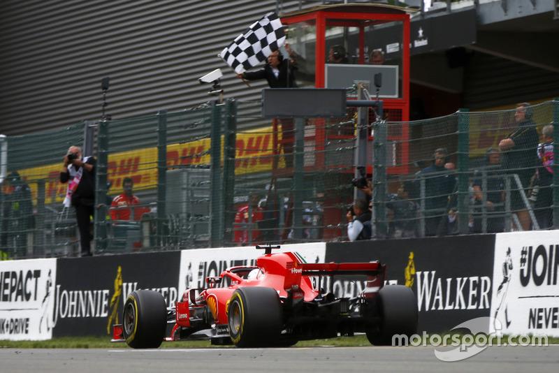 Yarış galibi Sebastian Vettel, Ferrari SF71H