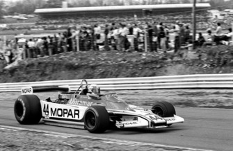 Guy Edwards, Mopar Fittipaldi F5A, seventh overall and the first finisher from the Aurora AFX serie, Race of Champions, Brands Hatch, England, 15 April 1979.