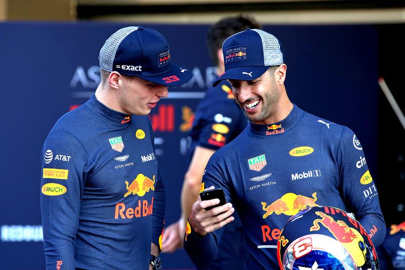 Max Verstappen, Red Bull Racing ve Daniel Ricciardo, Red Bull Racing