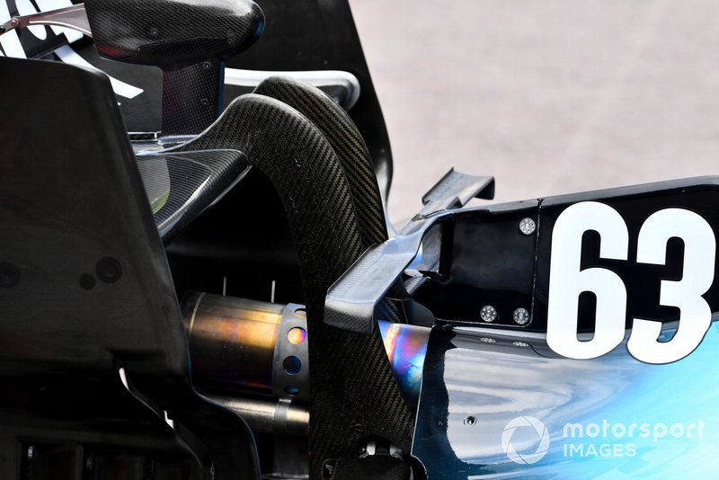 Williams FW42 exhaust and rear wing area