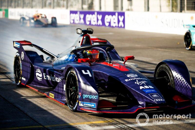 Robin Frijns, Envision Virgin Racing, Audi e-tron FE05, prova una partenza