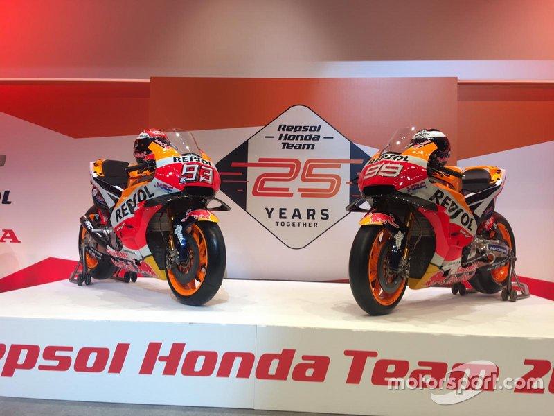 Motor Marc Marquez dan Jorge Lorenzo, Repsol Honda