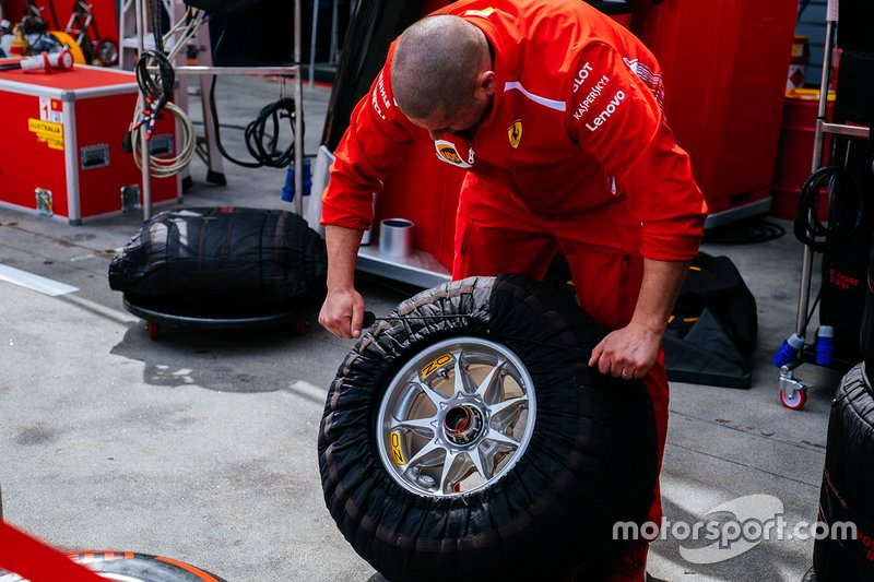 Ferrari team member at work
