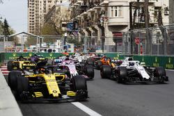 Carlos Sainz Jr., Renault Sport F1 Team R.S. 18,Lance Stroll, Williams FW41 Mercedes, Sergio Perez, Force India VJM11 Mercedes, Nico Hulkenberg, Renault Sport F1 Team R.S. 18, Fernando Alonso, McLaren MCL33 Renault