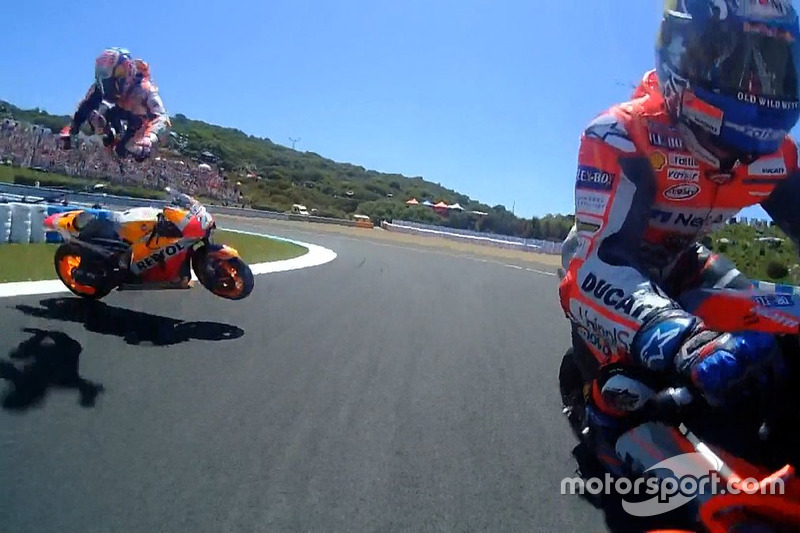 Dani Pedrosa, Repsol Honda Team, caída