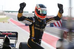 Race winner Rene Binder, Lotus